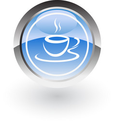 Coffe hot icon logo vector