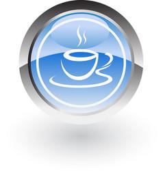 coffee hot icon logo vector image