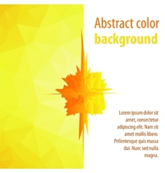 Color on an abstract of a modern design vector image