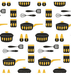 cooking repetitive background for kitchen vector image