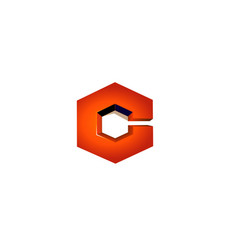 cube hexagon logo vector image
