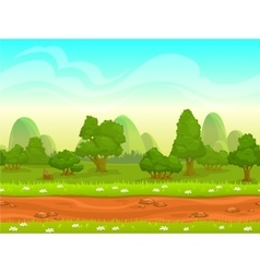 Cute cartoon seamless landscape vector