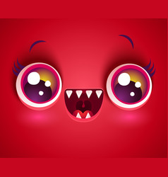 cute face monster for halloween vector image