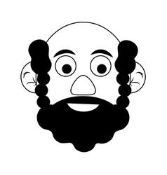 Cute happy elderly man icon image vector