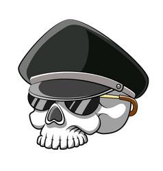 dead head skull police using sunglasses vector image