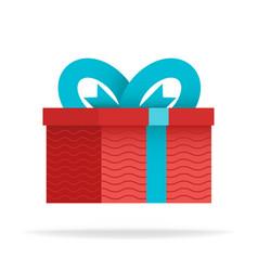 delight present surprise yellow gift box birthday vector image
