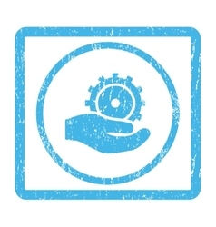 Development service icon rubber stamp vector