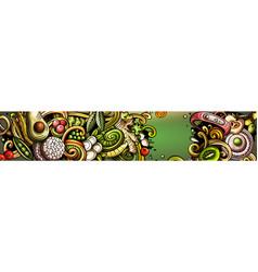 Diet food hand drawn doodle banner cartoon vector
