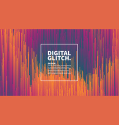 Digital glitch effect abstract background vector