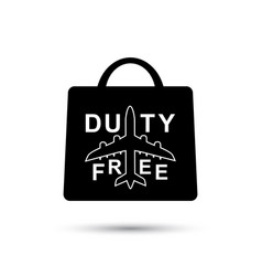 duty free paper bag vector image