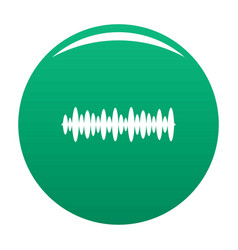 equalizer design icon green vector image
