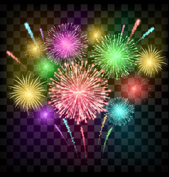festival fireworks banner for diwali or christmas vector image