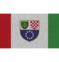 Flags Bosnia and Herzegovina Federation on denim vector