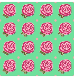 Flowers stylized roses seamless background vector