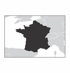 france dark silhouette vector image