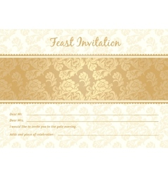 gold lace vector image