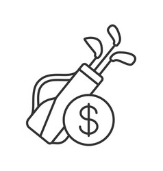 golf equipment shop linear icon vector image