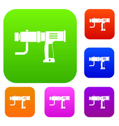 hand drill set color collection vector image vector image