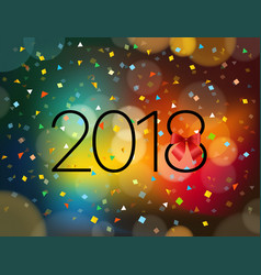 happy new 2018 year greeting card design template vector image