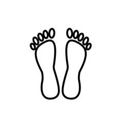 heelspedicure line icon sign vector image