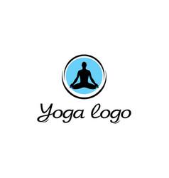 icon yoga vector image