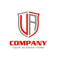 Initial letter ua logo design vector