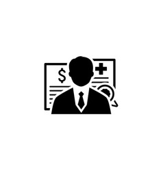 Insurance agent icon flat design vector