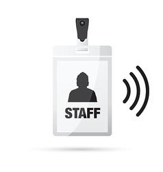 Lanyard staff wireless vector
