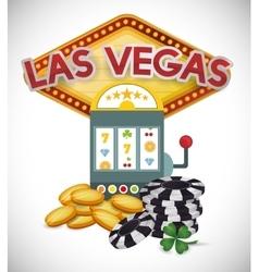 Las Vegas design vector