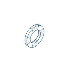 lifebuoy isometric icon 3d line art technical vector image