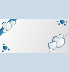 love invitation greeting card with blue heart and vector image