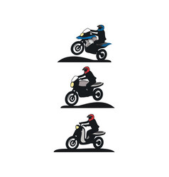 Motorcycle touring design vector