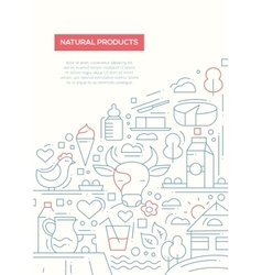 Natural products - line design brochure poster vector