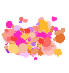 paint splash warm gamma vector image