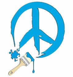 peace painting vector image