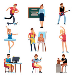 people hobbies persons and creative handicraft vector image