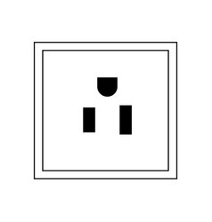 plug socket thin line icon vector image