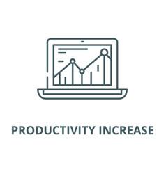 Productivity increase line icon linear vector