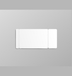 Rectangle coupon or ticket mockup with two stub vector