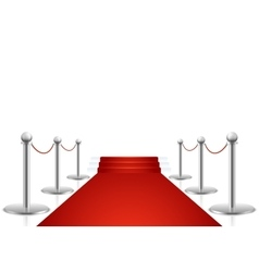 Red carpet with stairs vector