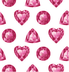red gemstones set vector image