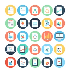 Reports and Analytics Colored Icons 4 vector image
