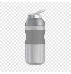 Reusable water bottle i mockup realistic style vector