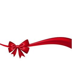 ribbon bow gift isolated white background satin vector image