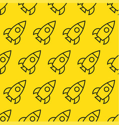 Rockets in space seamless pattern vector