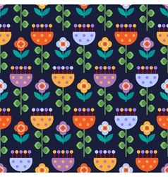 Seamless pattern with multicolored flowers vector image