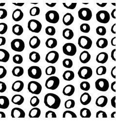 seamless trendy modern brush circle pattern vector image