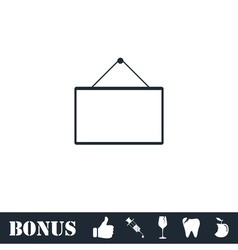 Signboard icon flat vector image
