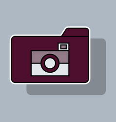 Sticker pictures folder icon vector