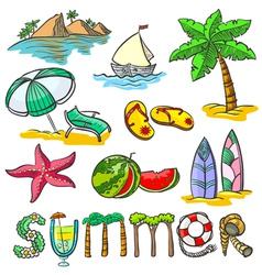 Summer set vector